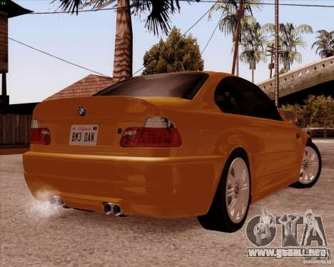 BMW M3 E46 stock para vista lateral GTA San Andreas