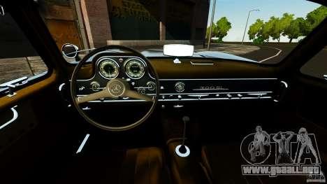 Mercedes-Benz 300 SL GullWing 1954 v2.0 para GTA 4 vista hacia atrás
