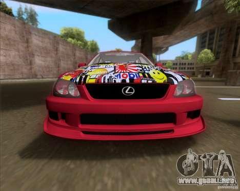 Lexus IS300 Hella Flush para visión interna GTA San Andreas
