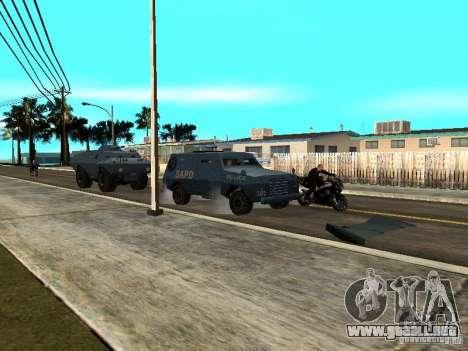 SWAT y el FBI carro pasear por las calles de para GTA San Andreas