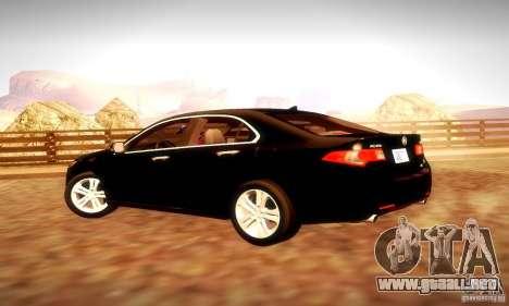 Acura TSX V6 para visión interna GTA San Andreas