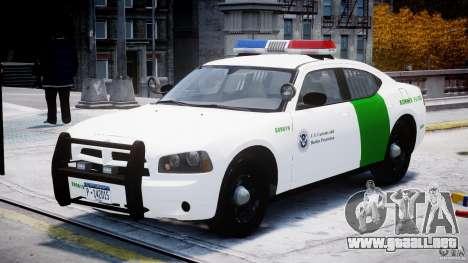 Dodge Charger US Border Patrol CHGR-V2.1M [ELS] para GTA 4 vista hacia atrás