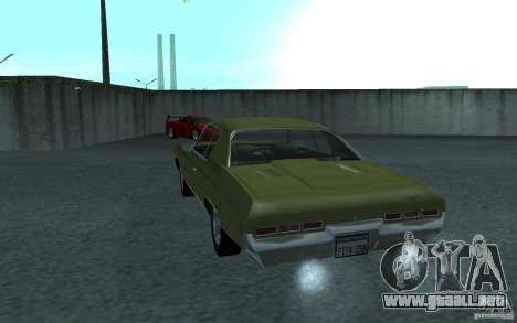 Chevrolet Impala 1971 para GTA San Andreas vista hacia atrás