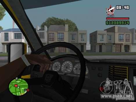 Tablero de instrumentos activo para GTA San Andreas tercera pantalla