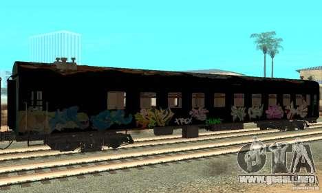 Custom Graffiti Train 1 para GTA San Andreas vista posterior izquierda