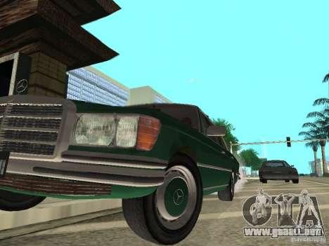 Mercedes - Benz 280SE para GTA San Andreas vista hacia atrás