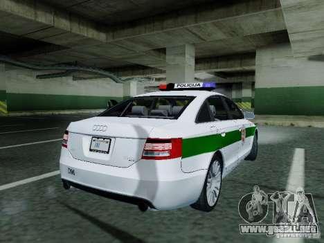 Audi A6 Police para la visión correcta GTA San Andreas
