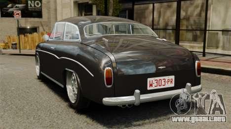 Syrena Coupe V8 para GTA 4 Vista posterior izquierda
