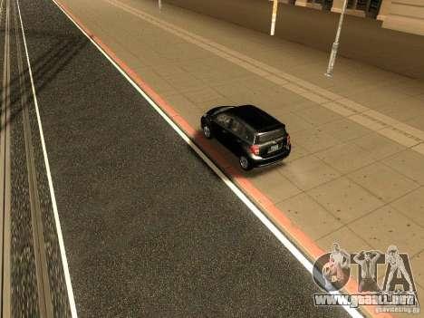 Scion xD para GTA San Andreas vista hacia atrás