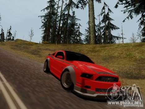 Ford Mustang RTR Spec 3 para GTA San Andreas vista posterior izquierda