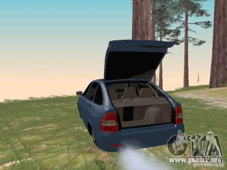 LADA 2170 Hatchback para la visión correcta GTA San Andreas