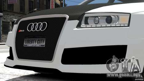 Audi RS6 Avant 2010 Carbon Edition para GTA 4 vista interior