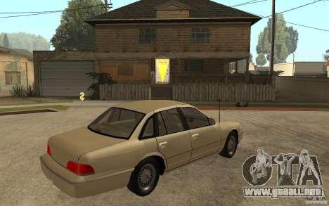 Ford Crown Victoria LX 1992 para la visión correcta GTA San Andreas