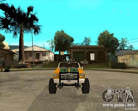 Ford Mustang Sandroadster para GTA San Andreas vista hacia atrás
