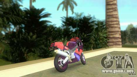 Yamaha FZR 750 midnight black para GTA Vice City vista lateral izquierdo