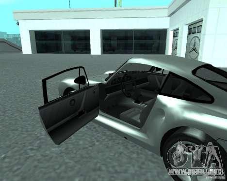 PORSHE 959 para GTA San Andreas vista posterior izquierda