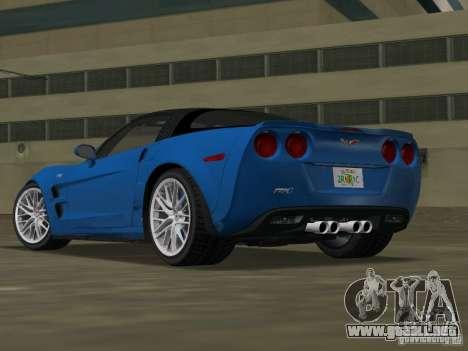 Chevrolet Corvette ZR1 para GTA Vice City left