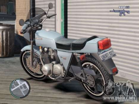Kawasaki Z1-R para GTA 4 Vista posterior izquierda