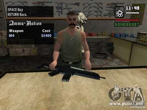 XM8 para GTA San Andreas tercera pantalla