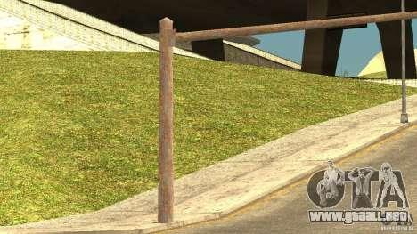 Semáforos oxidados para GTA San Andreas sucesivamente de pantalla