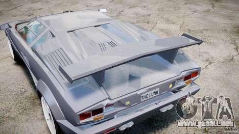 Lamborghini Countach para GTA 4 vista lateral