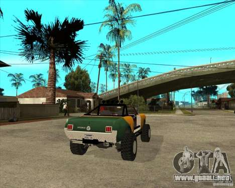 Ford Mustang Sandroadster para GTA San Andreas vista posterior izquierda