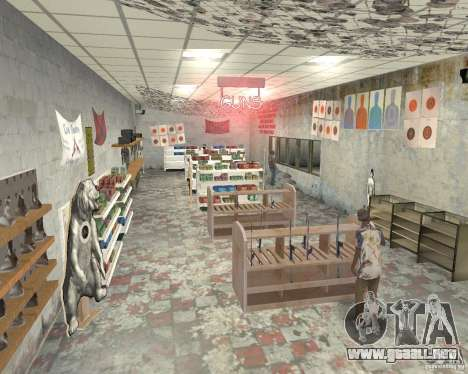 Una bulliciosa tienda Ammu-Nation v3 (Final) para GTA San Andreas