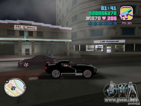 Dodge Viper Hennessy 800 para GTA Vice City vista lateral izquierdo