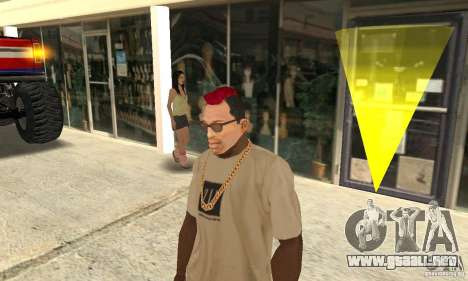 Red Mohawk and Black Stubbles para GTA San Andreas