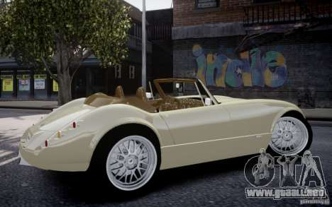 Wiesmann MF3 Roadster Final para GTA 4 vista hacia atrás