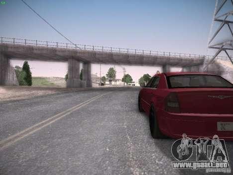 Chrysler 300C SRT8 para GTA San Andreas vista hacia atrás