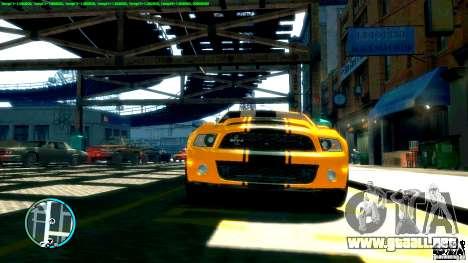 Shelby GT500 Super Snake 2011 para GTA 4 Vista posterior izquierda