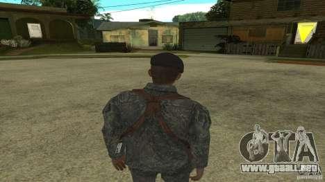 Shepard de CoD MW2 para GTA San Andreas tercera pantalla