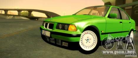 BMW E36 320i para vista inferior GTA San Andreas
