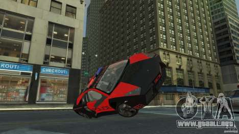 Lamborghini Reventon Police Hot Pursuit para GTA 4 vista lateral