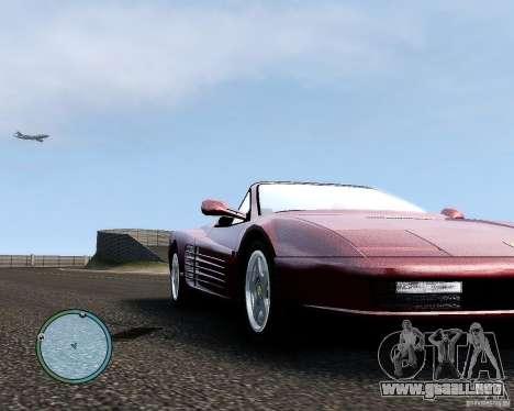 Ferrari Testarossa para GTA 4 vista hacia atrás