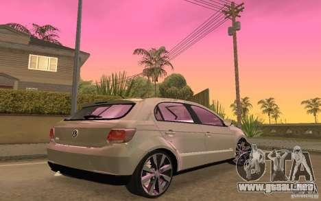 Volkswagen Gol G6 para GTA San Andreas vista hacia atrás