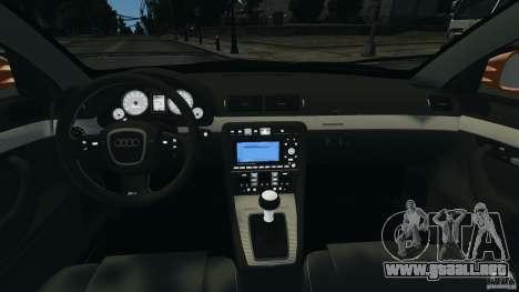 Audi RS4 EmreAKIN Edition para GTA 4 vista hacia atrás