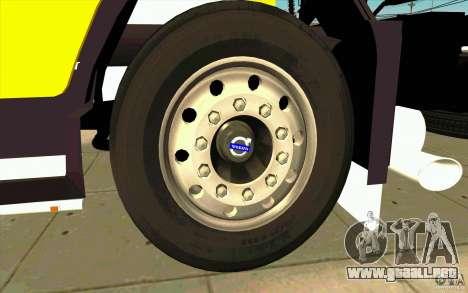 Volvo FH16 Globetrotter DHL para visión interna GTA San Andreas