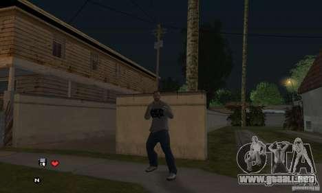 Beta v0.1 suéter Linkin Park para GTA San Andreas tercera pantalla