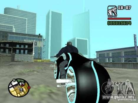 Tron legacy bike v.2.0 para GTA San Andreas vista posterior izquierda