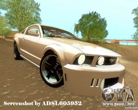 Ford Mustang GT 2005 Tunable para vista inferior GTA San Andreas