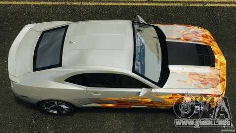 Chevrolet Camaro ZL1 2012 v1.0 Flames para GTA 4 visión correcta