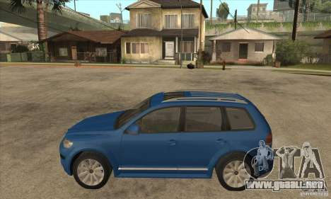 Volkswagen Touareg R50 para GTA San Andreas left