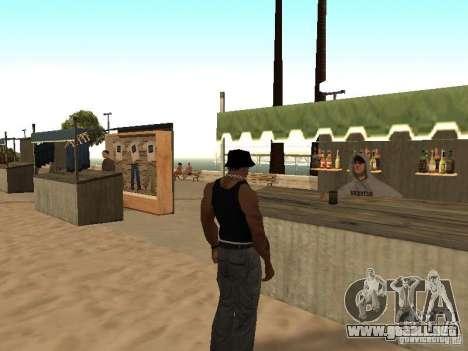 Mercado en la playa para GTA San Andreas octavo de pantalla