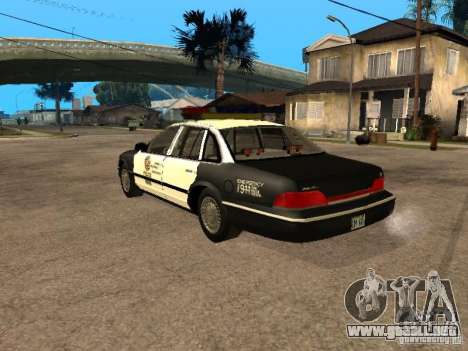 Ford Crown Victoria 1994 Police para GTA San Andreas left