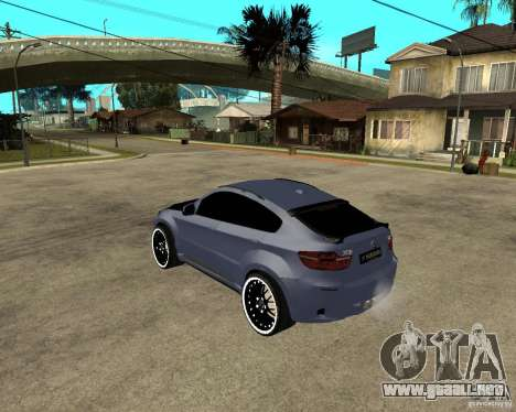 BMW X6 M HAMANN para GTA San Andreas left