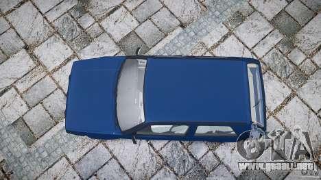 Volkswagen GOLF MK2 GTI para GTA 4 vista superior