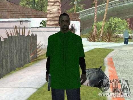 Nuevos aspectos de la pandilla de la calle Grove para GTA San Andreas segunda pantalla