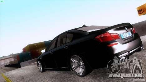 BMW M5 2012 para GTA San Andreas left